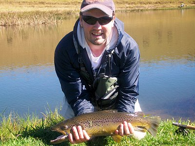 Oszie with Brown Trout