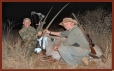 Hennie and Gordon Brace from Zulani Safaris with Gemsbok